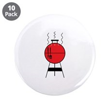 """Red BBQ Grill 3.5"""" Button (10 pack)"""