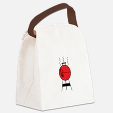 Red BBQ Grill Canvas Lunch Bag