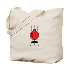 Red BBQ Grill Tote Bag