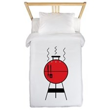 Red BBQ Grill Twin Duvet