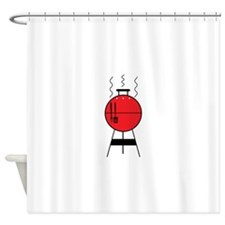 Red BBQ Grill Shower Curtain