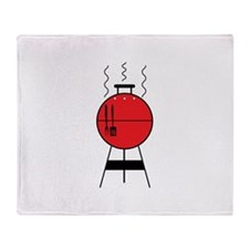 Red BBQ Grill Throw Blanket