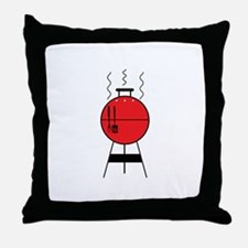 Red BBQ Grill Throw Pillow