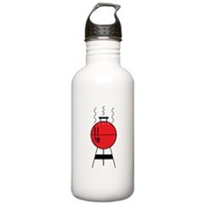 Red BBQ Grill Water Bottle