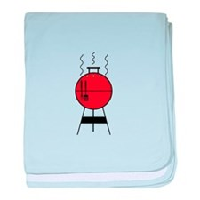 Red BBQ Grill baby blanket