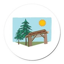 Welcome To The Summer Camp! Round Car Magnet