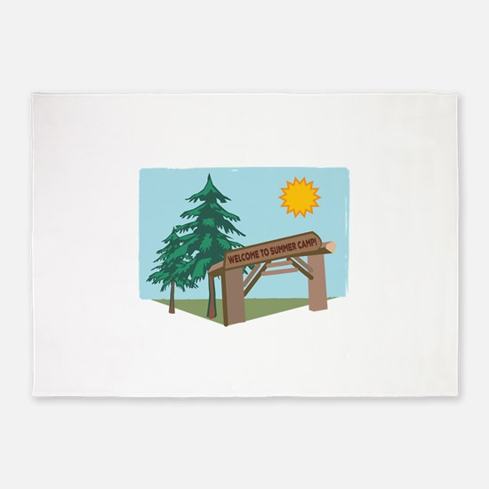 Welcome To The Summer Camp! 5'x7'Area Rug