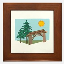 Welcome To The Summer Camp! Framed Tile