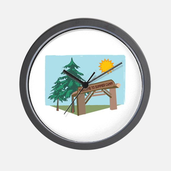 Welcome To The Summer Camp! Wall Clock
