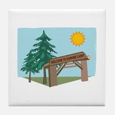 Welcome To The Summer Camp! Tile Coaster