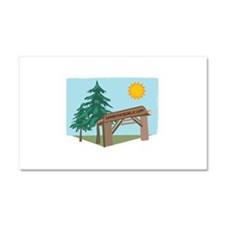 Summer Fun Begins At Camp! Car Magnet 20 x 12
