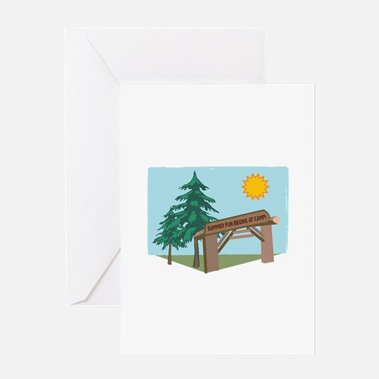 Summer Fun Begins At Camp! Greeting Cards