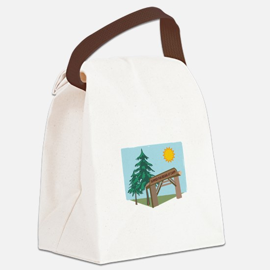Summer Fun Begins At Camp! Canvas Lunch Bag
