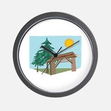 Summer Fun Begins At Camp! Wall Clock