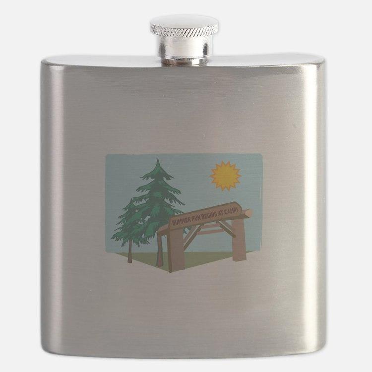 Summer Fun Begins At Camp! Flask