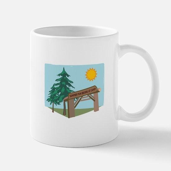 Summer Fun Begins At Camp! Mugs