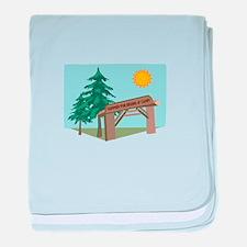 Summer Fun Begins At Camp! baby blanket
