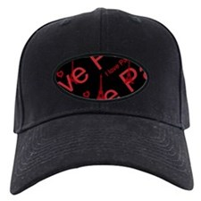 Trendy Black and Red I LOVE PARIS Baseball Cap