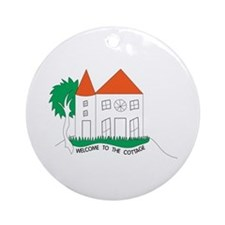 Welcome To The Cottage Ornament (Round)