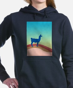 Sunrise Hills Llama tl3 Women's Hooded Sweatshirt