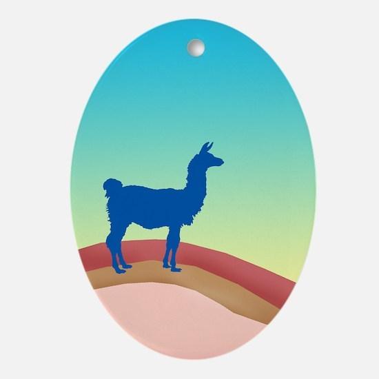 Sunrise Hills Llama tl3 Ornament (Oval)