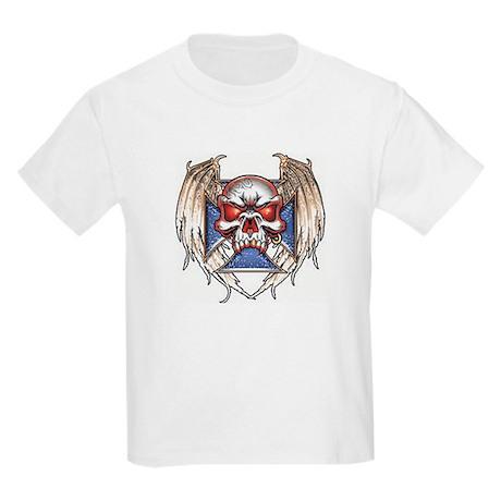 celtic winged skull kids T shirt