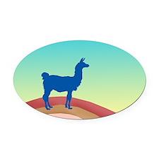 Sunrise Hills Llama wd6 Oval Car Magnet