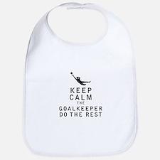 Keep Calm the Goalkeeper Do The Rest Bib