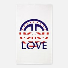 American Peace And Love 3'x5' Area Rug