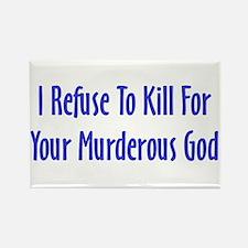 Murderous God Rectangle Magnet
