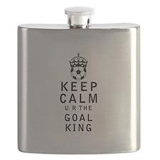 Keep Calm u r the Goal King Flask