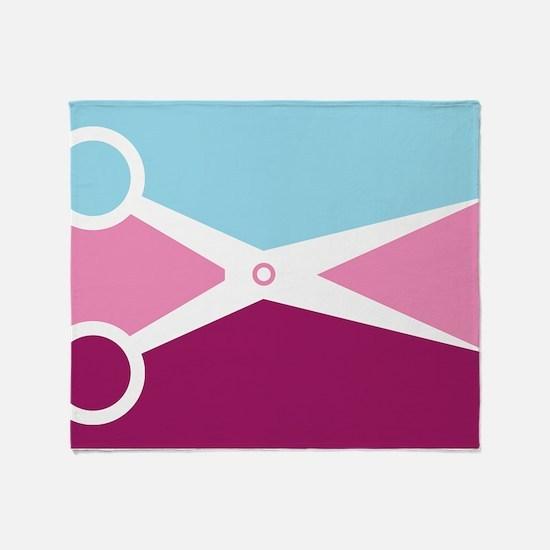Pop Art Scissors Throw Blanket