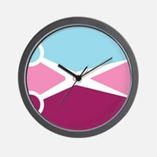 Pop Art Scissors Wall Clock