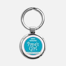 100% Papa's Girl Round Keychain