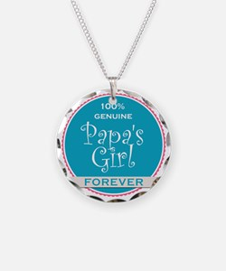100% Papa's Girl Necklace Circle Charm