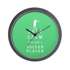 Keep Calm you are a Soccer Player Wall Clock