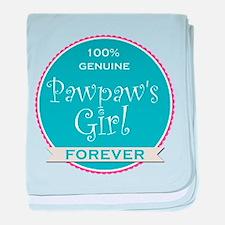 100% Pawpaw's Girl baby blanket