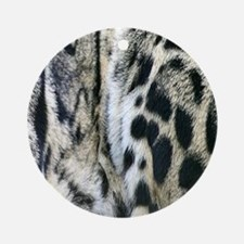 Clouded Leopard Ornament (Round)