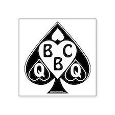 "Queen of Spades Loves BBC Square Sticker 3"" x 3"""