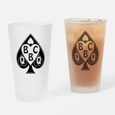 Queen of Spades Loves BBC Drinking Glass