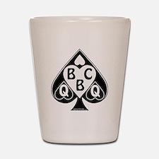 Queen of Spades Loves BBC Shot Glass