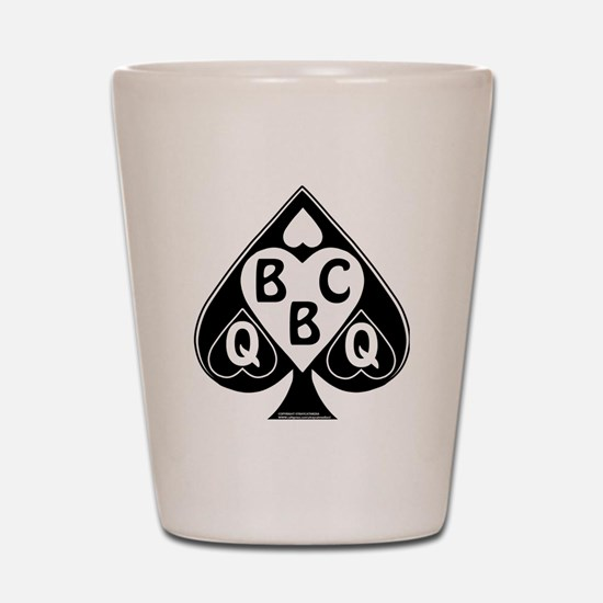 Queen of Spades Loves BBC Shot Glass
