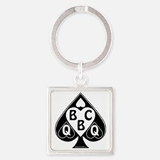 Queen of Spades Loves BBC Square Keychain