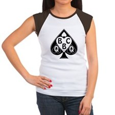 Queen of Spades Loves B Women's Cap Sleeve T-Shirt