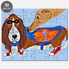 Basset Hound Marathon Racer Puzzle