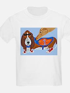 Basset Hound Marathon Racer T-Shirt