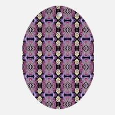 Purple Geometric Pattern Ornament (Oval)