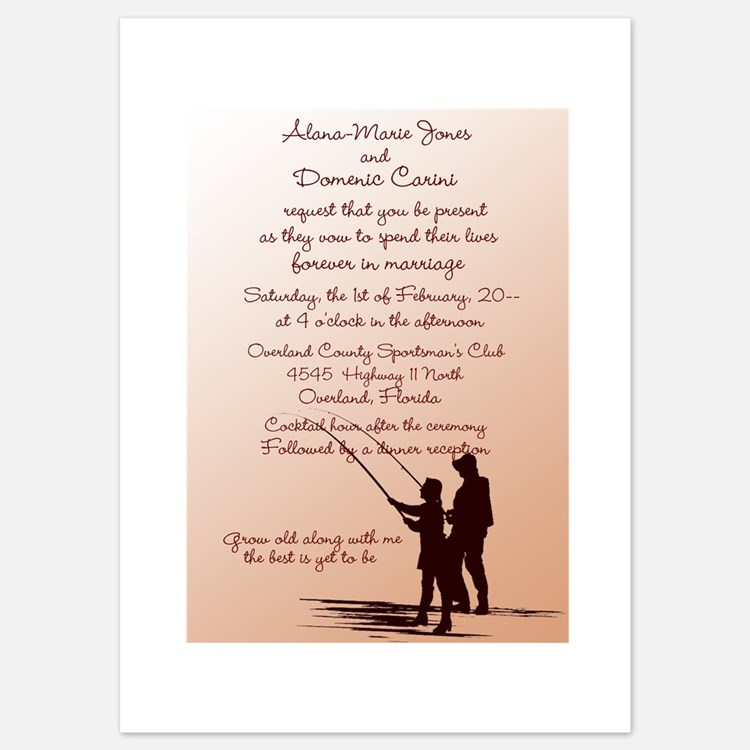 Fishing invitations fishing announcements invites for Fishing wedding invitations