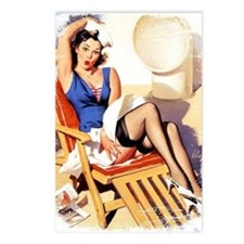 Cruise Girl Vintage Pinup Postcards (Package of 8)
