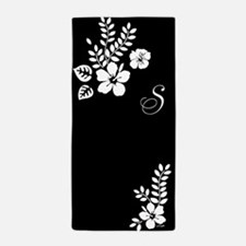 Hibiscus Monogram Beach Towel